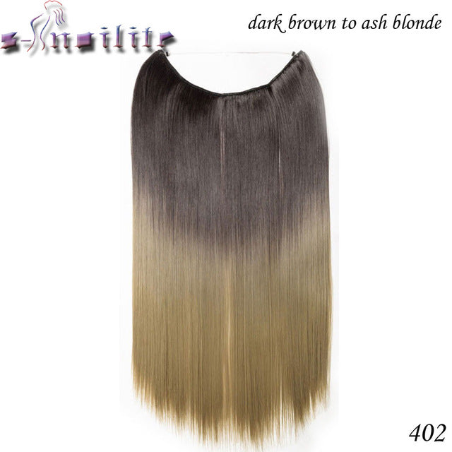 Invisible Wire Hair Extensions In Style Glow