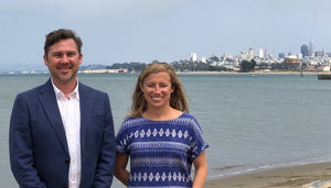 Jason Amatucci and Annie Rouse in San Francisco after participating in Founder University