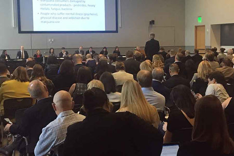 FDA Hearing on CBD in a crowded room