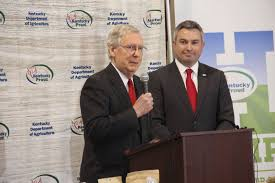 Senator McConnell and Ag Commissioner Ryan Quarles at Kentucky Press Conference