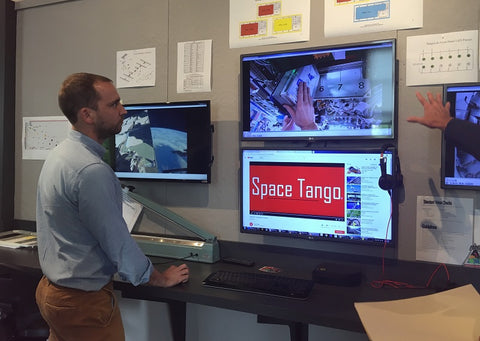 Twyman Clements explaining how Space Tango works with Astronauts on the International Space Station