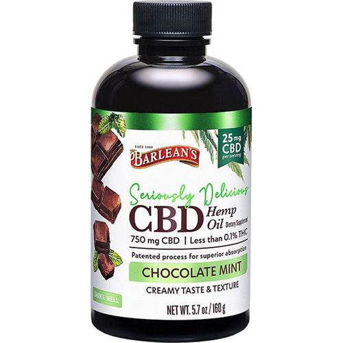 Barlean's Seriously Delicious Chocolate Mint CBD Emulsion