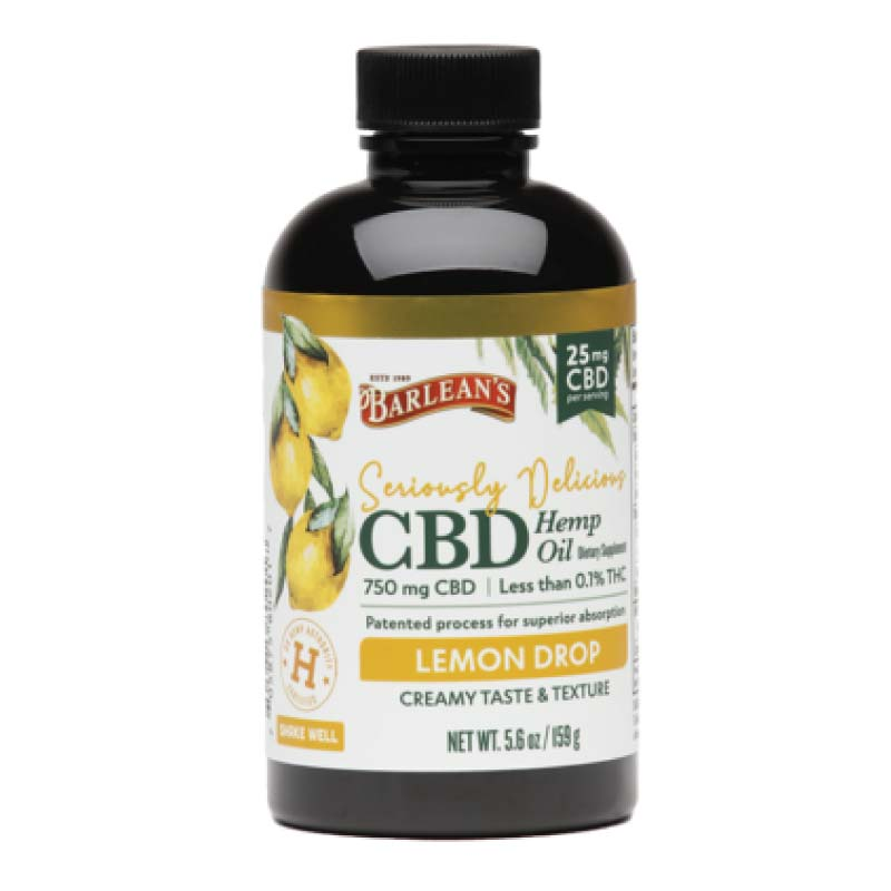 Barleans Seriously Delicious Lemon Drop CBD Oil