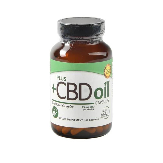 Plus CBD Oil 900mg Green Capsules 15mg CBD per serving