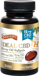 Barlean's Ideal CBD Hemp Oil Softgels - 15mg per Softgel