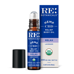 RE Botanicals Hemp CBD Relief Body Oil, Lavender – USDA Organic
