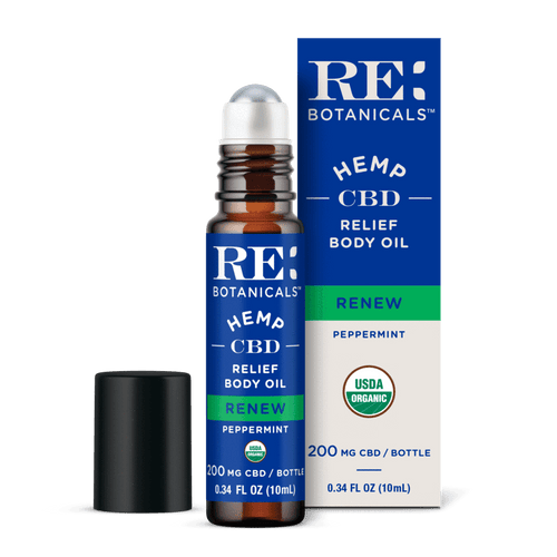 RE Botanicals Hemp CBD Relief Body Oil, Peppermint – USDA Organic