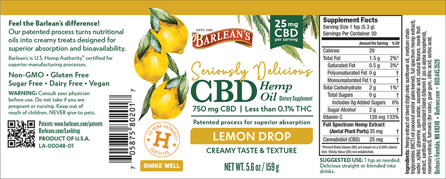 barleans-lemon-front-label