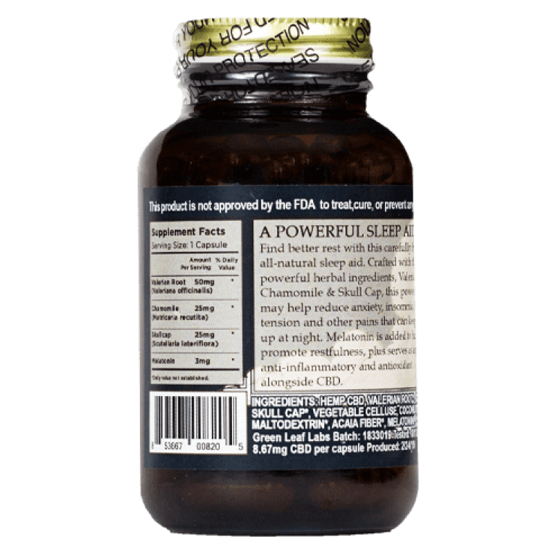 Brothers Apothecary Sleep Aid Label