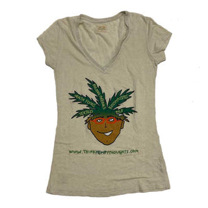 Think Hempy Thoughts Women's V Neck T-Shirt