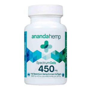 Ananda Hemp Spectrum 450mg CBD Oil Softgels