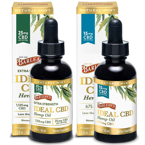 Barlean's Ideal CBD Hemp Oil - 15MG and 25MG
