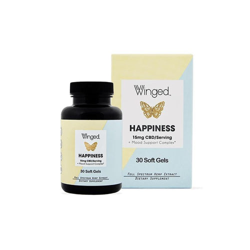 Winged CBD Happiness Softgels
