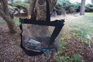 "NEW!  The ""Crowd Pleaser"" Wire Knit Tote: A Clear View Bag for Secure Venues"