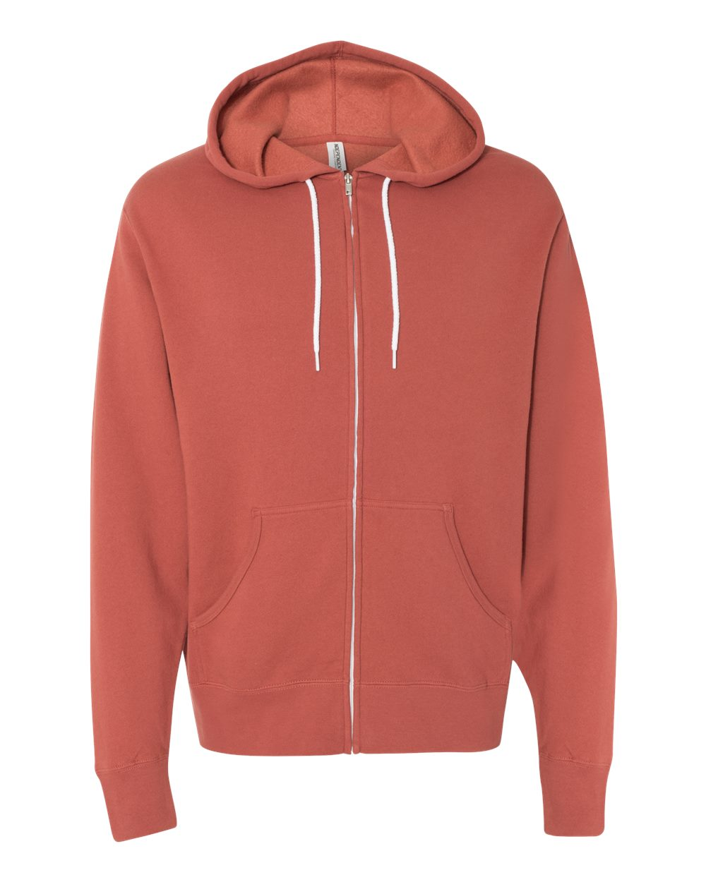 Rust Hooded Full Zip
