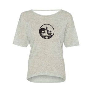Yin & Yang Meditate Open Back Tee