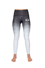 Front View of B&W Yoga Pants