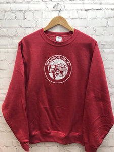Brandon Valley Crew Sweatshirt- Red