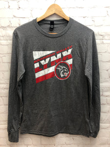 Lynx District Long Sleeve Tee- Black Frost