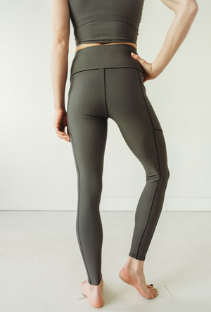 Grey Microstripe Wander Pocket Pant