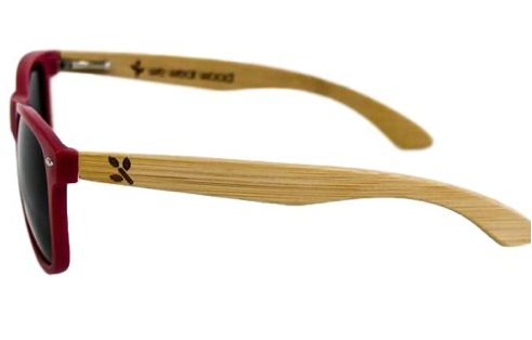 Red Matte Bamboo Sunglasses