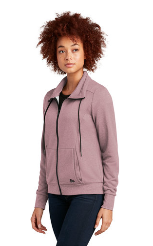 New Era ® Ladies Performance Terry Full-Zip Cowl Dusty Mauve