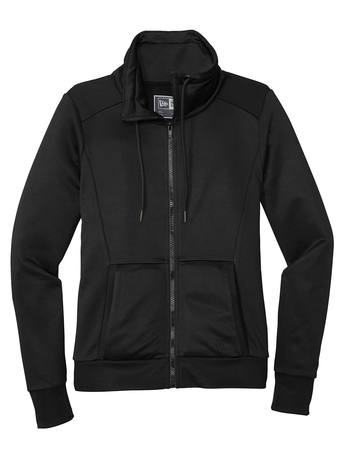 New Era ® Ladies Performance Terry Full-Zip Cowl Black