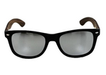 Silver Lens Walnut Sunglasses