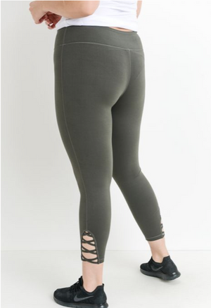 Lattice Strap Full Leggings
