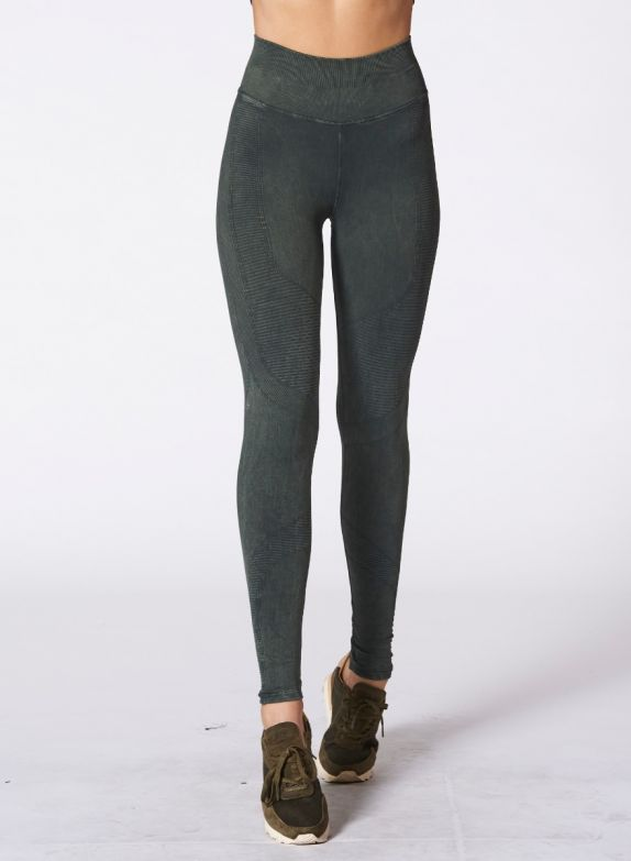 Forest Green One by One Moto Legging