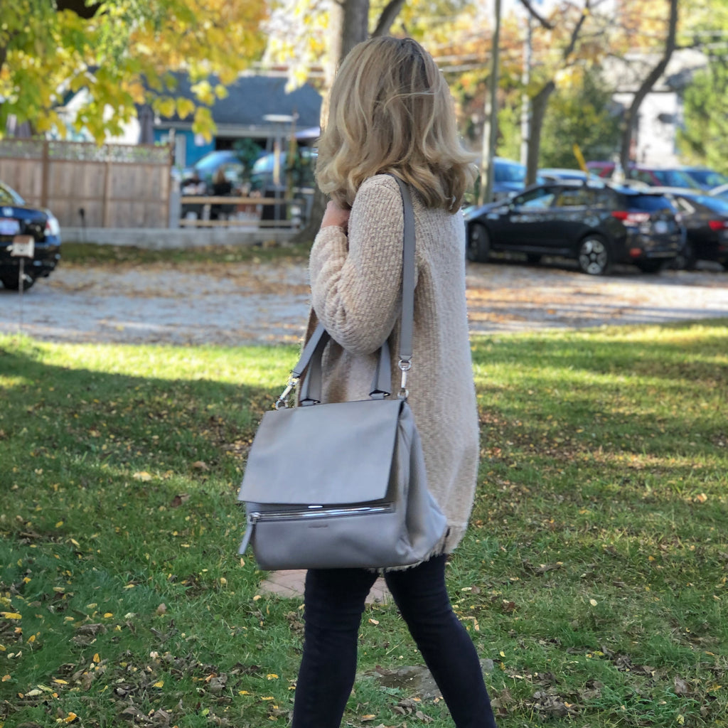 Givenchy Pandora Pure Grey Leather Satchel