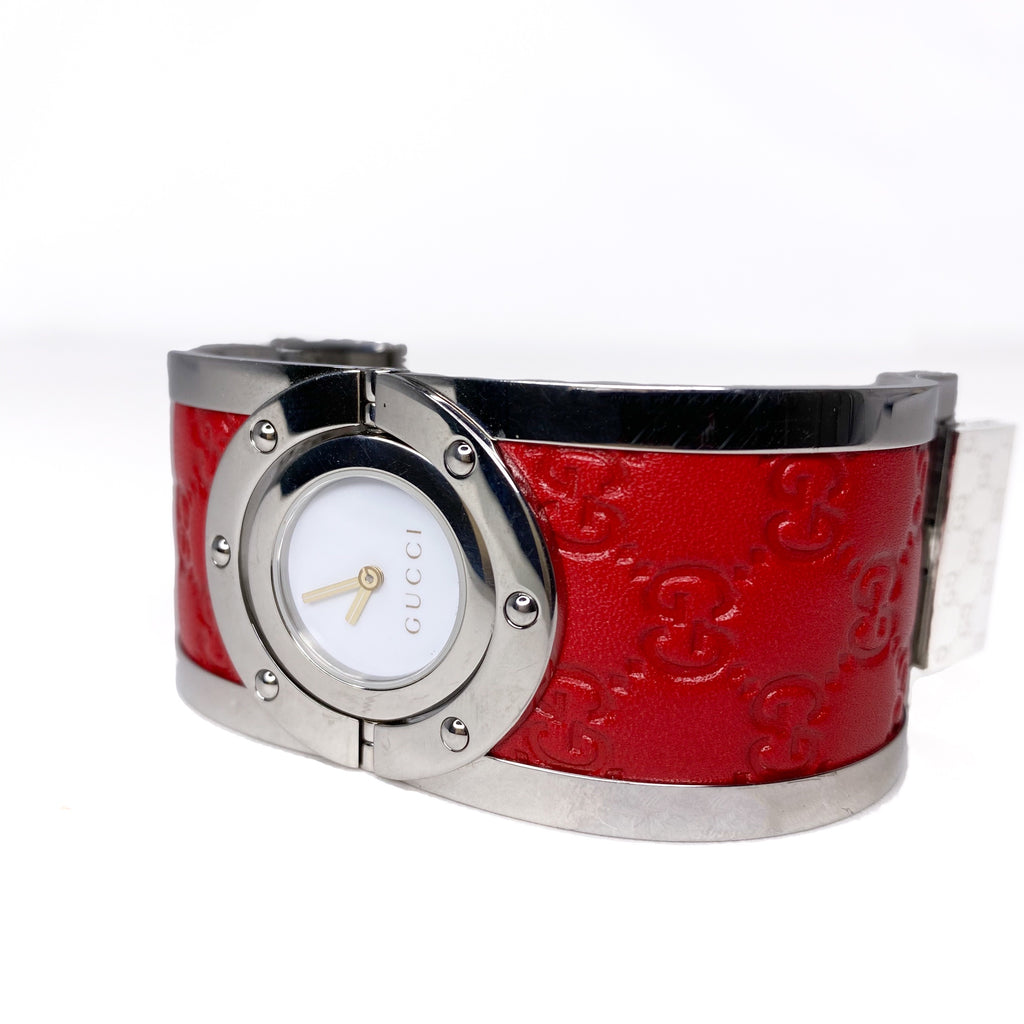 Gucci Guccissima Leather Bangle Bracelet Watch