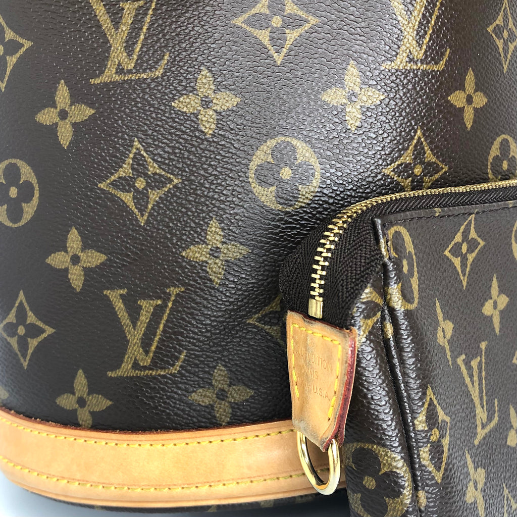 Louis Vuitton Monogram Bucket PM Tote and Pochette