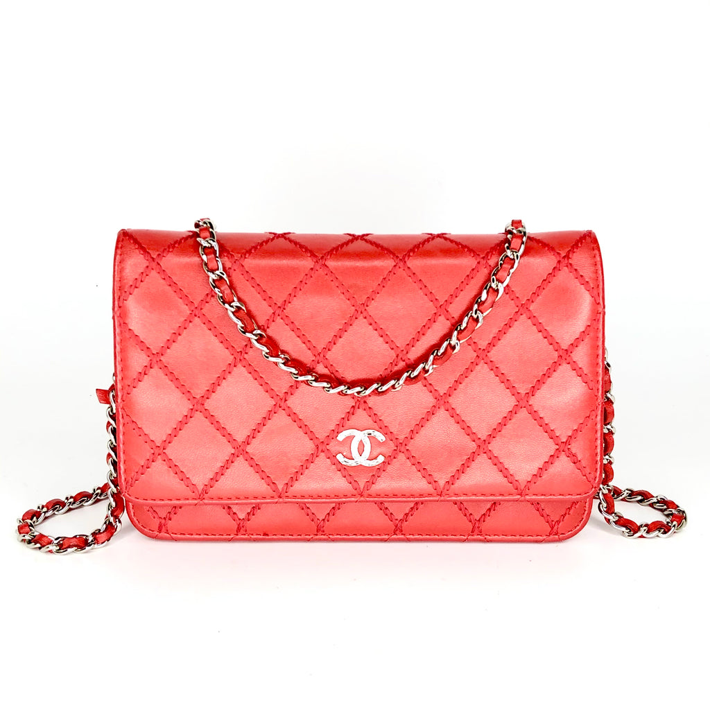 Chanel Quilted Wallet On A Chain