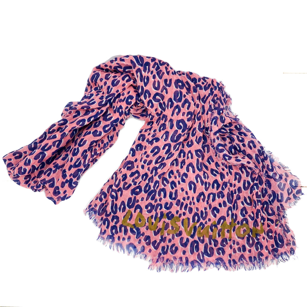 Louis Vuitton Stephen Sprouse Frayed Leopard Stole Scarf