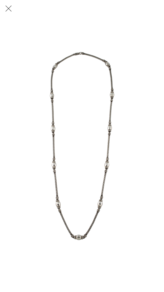 John Hardy Sterling Silver Long Palu Station Necklace