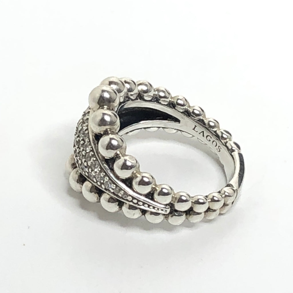Lagos Caviar Spark Diamond Ring - Size 6.5