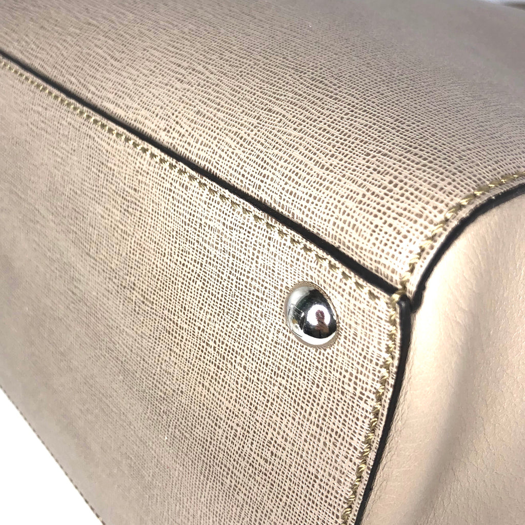 Fendi Taupe Saffiano Medium Sac 2Jours Elite Tote