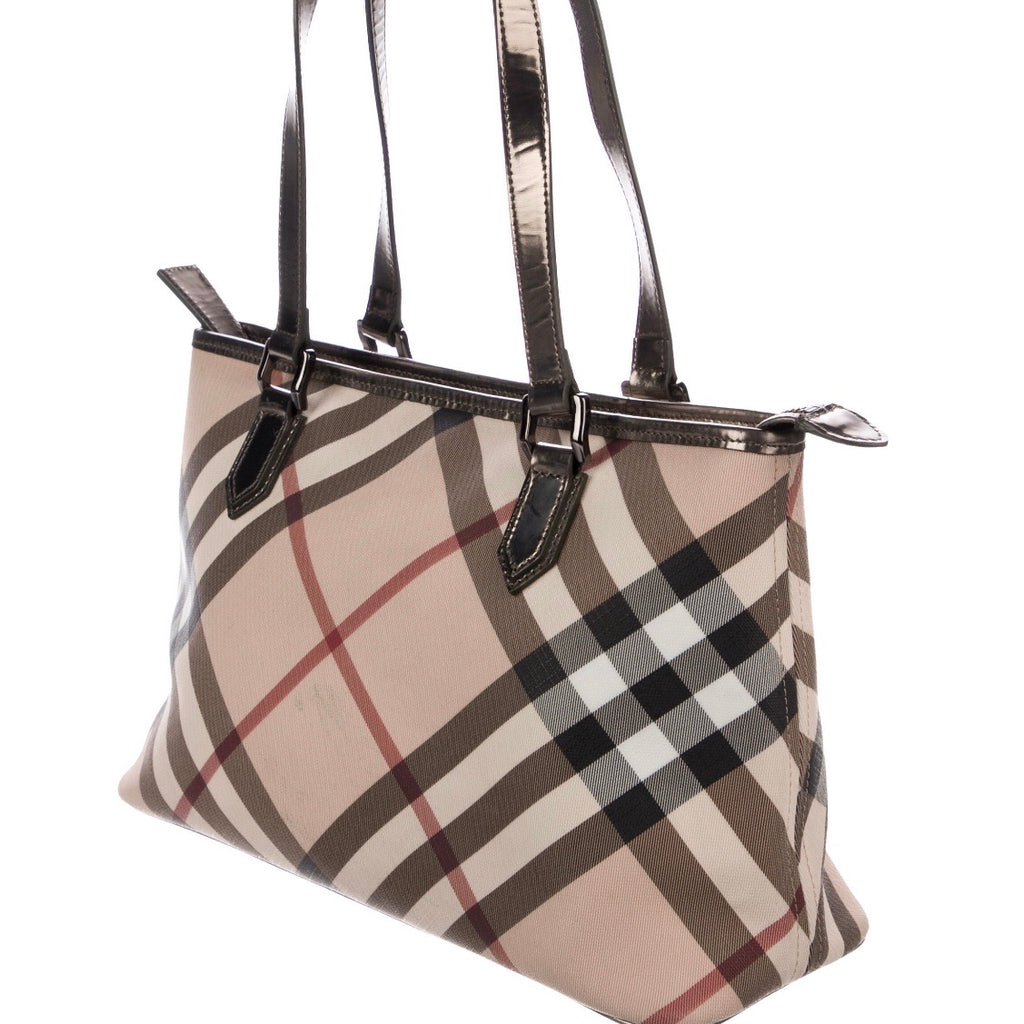 Burberry Super Nova Check Shopper Tote