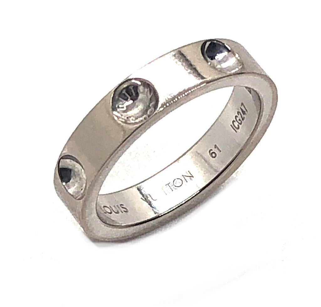 Louis Vuitton 18K White Gold Empriente Ring