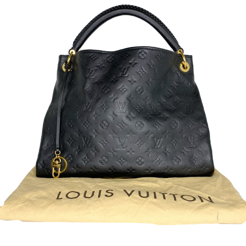 Louis Vuitton Monogram Black Empreinte Artsy MM