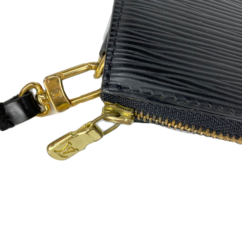 Louis Vuitton Black Epi Pochette Accessories