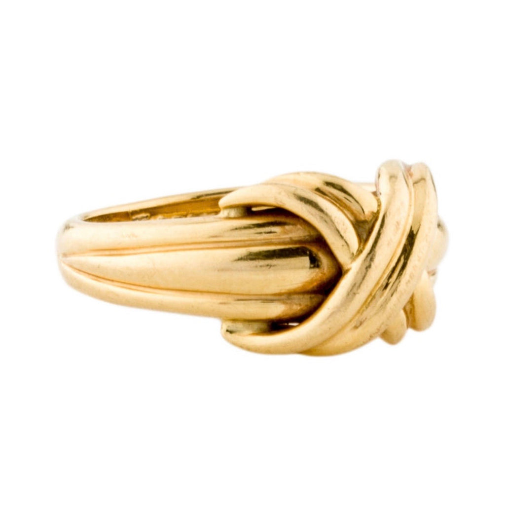 Tiffany & Co Vintage 18K Signature X Ring