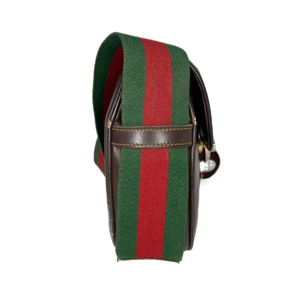 Gucci Vintage Web Saddle Flap Bag