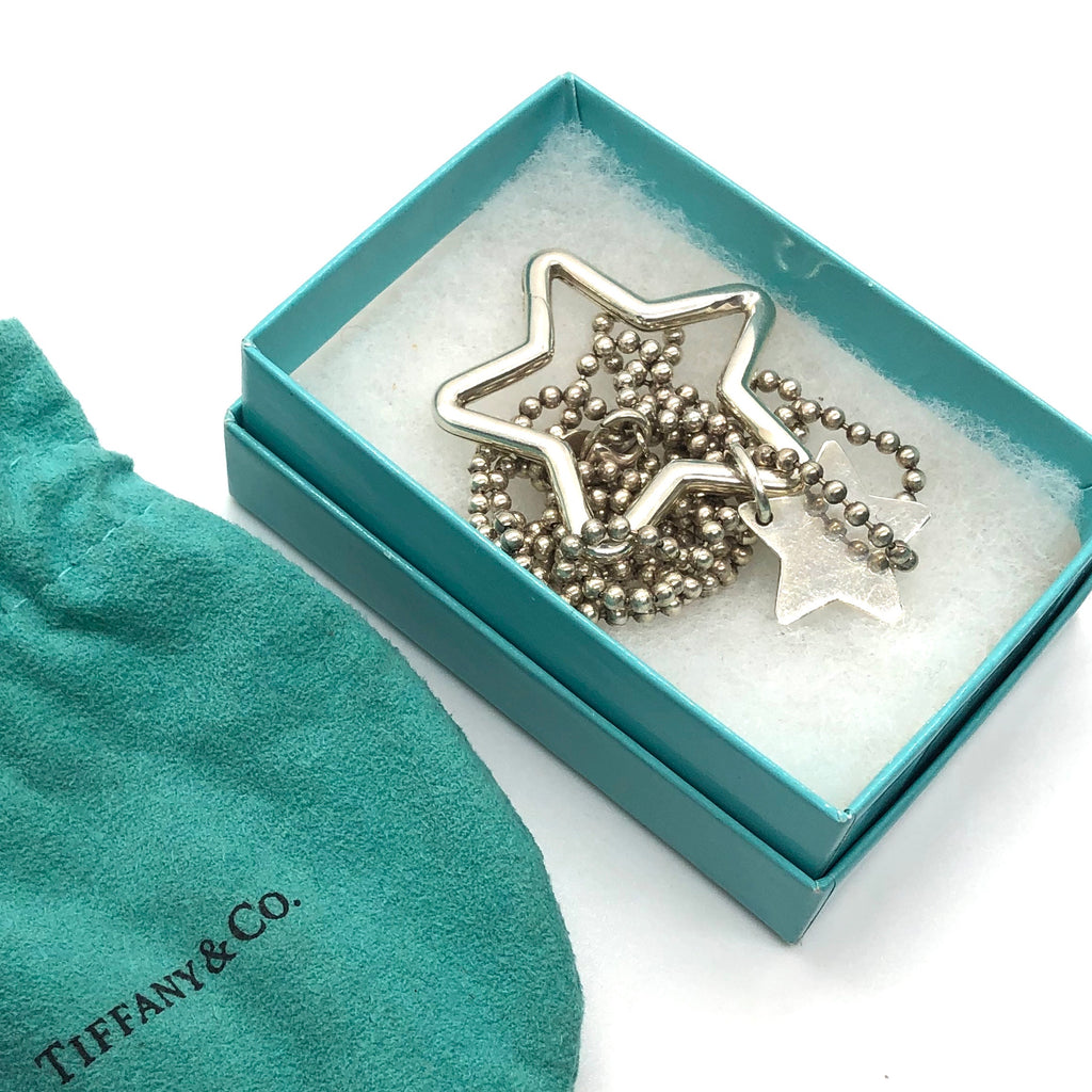 Tiffany & Co Double Start Key Ring Necklace