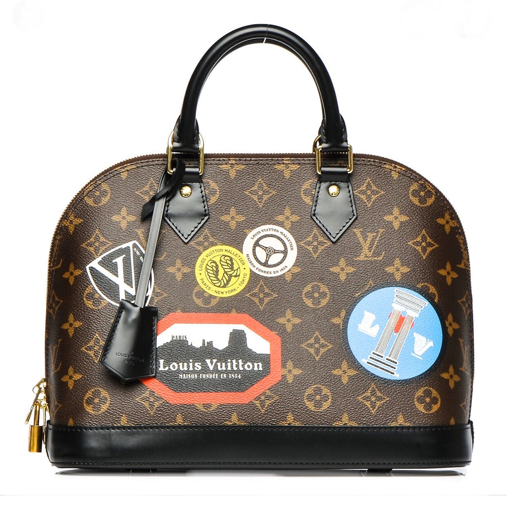 Louis Vuitton Monogram World Tour Alma PM Bag