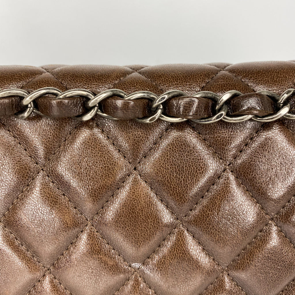 Chanel 2.55 Brown Double Flap Bag Mademoiselle Lock Bag