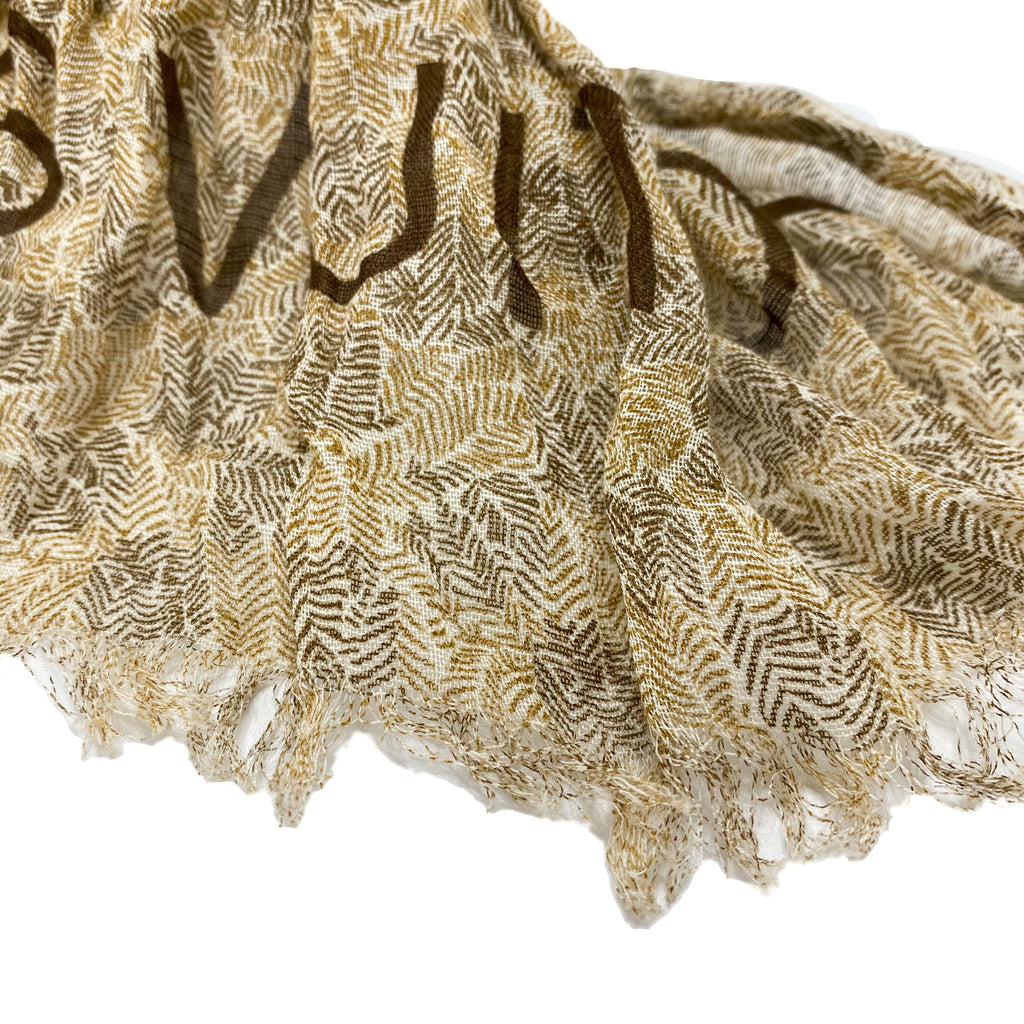 Louis Vuitton Fringe Cotton Linen Stole Scarf