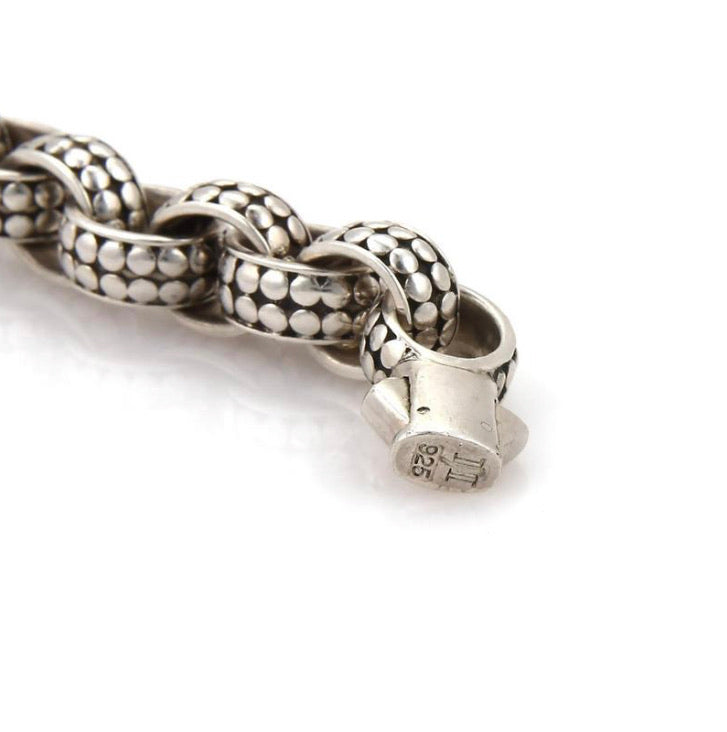 John Hardy Sterling Silver Dot Collection Chain Link Bracelet
