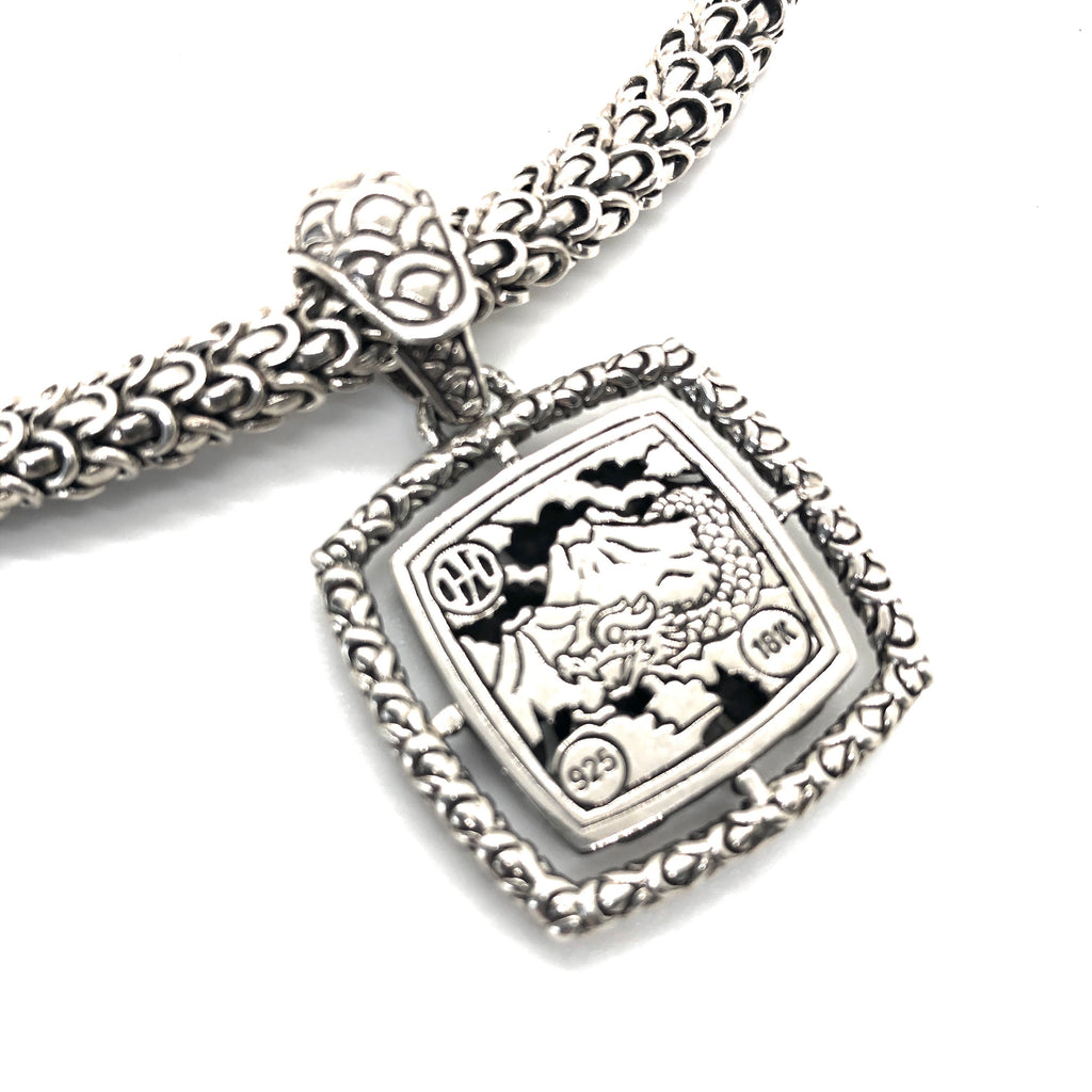 John Hardy Naga Square Pendant Necklace